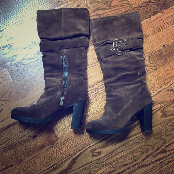 Nine West Shoes - Nine West suede brown boots
